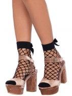 Erotické ponožky a podkolenky: Síťované ponožky s velkou mašličkou (Leg Avenue)