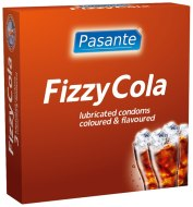 Kondomy s příchutí: Kondomy Pasante Fizzy Cola (3 ks)