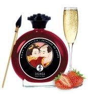 Bodypainting (barvy na tělo): Slíbatelný bodypainting Shunga Sparkling Strawberry Wine (100 ml)