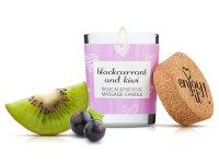 Svíčky s masážními oleji: Afrodiziakální masážní svíčka MAGNETIFICO - Enjoy it! (blackcurrant and kiwi)
