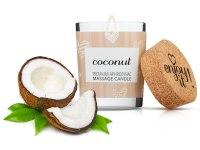 Svíčky s masážními oleji: Afrodiziakální masážní svíčka MAGNETIFICO - Enjoy it! (coconut)