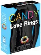 Zábavné doplňky a vychytávky do domácnosti: Kroužky na penis z bonbónů Candy Love Rings (3 ks)