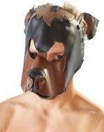 Vzrušující masky na hlavu: Fetish maska Pes (černohnědá)