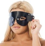 Masky na oči: Kožená maska na oči s odnímatelnými klapkami (Rimba)
