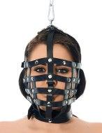 Vzrušující masky na hlavu: Řemínková maska se závěsným kroužkem (Rimba)