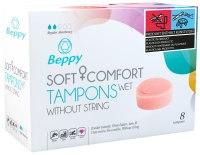 Menstruační tampony (houbičky): Menstruační houbičky Beppy WET - vlhčené (8 ks)