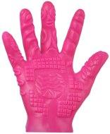 Stimulátory bez vibrací - pro ženy: Masturbační rukavice se stimulačními výstupky - růžová (1 ks)