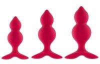 Základní anální kolíky: Sada análních kolíků FeelzToys Bibi Twins (3 ks)