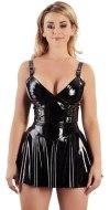 Lakované šaty a minišaty: Lakované minišaty s ozdobnými sponami (Black Level)