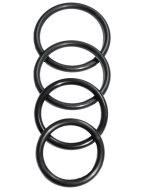 Univerzální postroje na strapony: Sada kroužků k postrojům na připínací penisy Sportsheets O-Ring (4 ks)
