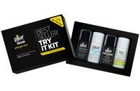 Lubrikační gely na vodní bázi: Testovací sada lubrikačních gelů PJUR Try It Kit (4x 10 ml)