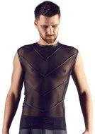 Pánská trička, tílka a topy: Průsvitné tílko s lesklými zády (Svenjoyment)