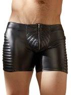 Boxerky: Lesklé prošívané boxerky se zipem (NEK)