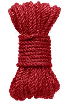 Konopné lano na bondage KINK Hogtied Bind & Tie 30 ft, 9 m (červené)
