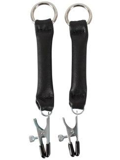 Svorky na bradavky s koženými pásky (ZADO)