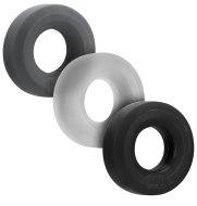 Nevibrační erekční kroužky: Sada erekčních kroužků Hünky Junk (3 ks)