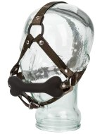 Roubíky a rozevírače úst: Kousací silikonový roubík s postrojem COLT Camo