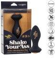 Vibrační anální kolík se šperkem Shake Your Ass (Naughty Bits)