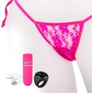 Vibrační kalhotky: Růžové vibrační kalhotky s dálkovým ovladačem (The Screaming O)