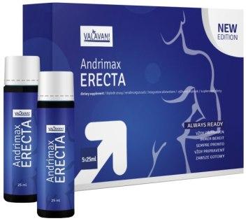 Nápoj pro okamžité posílení erekce Andrimax ERECTA (5 x 25 ml)