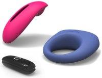 Vibrační stimulátory pro ženy: Vibrační stimulátor klitorisu Candy + erekční kroužek Dante (ovládaný mobilem)