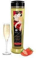 Erotické masážní oleje: Masážní olej Shunga ROMANCE Sparkling Strawberry Wine (240 ml)