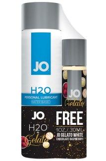 Vodní lubrikační gel System JO H2O Original + lubrikační gel Gelato Malinové lanýže