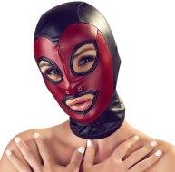 Vzrušující masky na hlavu: Červeno-černá maska na hlavu (Bad Kitty)