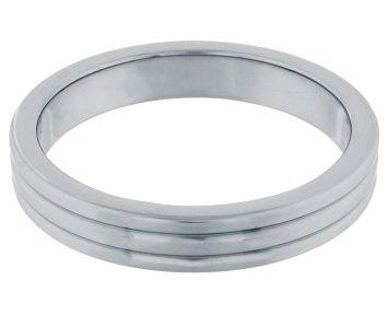 Kovový erekční kroužek s žebrováním (Steel Power Tools)