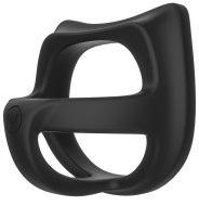 Nevibrační erekční kroužky: Silikonový postroj na penis a varlata KINK Cock Jock Splitter
