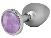 Anální kolíky s krystalem: Kovový anální kolík s ametystem Amethyst Butt Plug