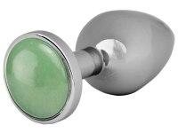 Anální kolíky s krystalem: Kovový anální kolík s jadeitem Jade Butt Plug