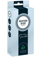Malé kondomy: Kondomy MISTER SIZE 47 mm (10 ks)