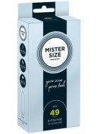 Malé kondomy: Kondomy MISTER SIZE 49 mm (10 ks)