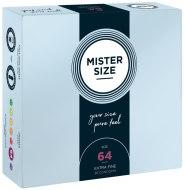 XL a XXL kondomy: Kondomy MISTER SIZE 64 mm (36 ks)