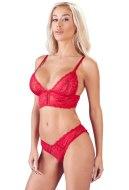 Erotické soupravy: Červený set krajkového spodního prádla (Cottelli Collection)