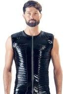 Pánská trička, tílka a topy: Lakované prošívané tílko pro muže (Black Level)