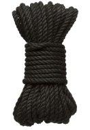 Bondage lana pro BDSM hrátky: Konopné lano na bondage KINK Hogtied Bind & Tie 30 ft, 9 m (černé)