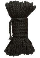 Bondage lana pro BDSM hrátky: Konopné lano na bondage KINK Hogtied Bind & Tie 50 ft, 15 m (černé)