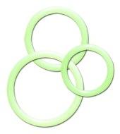 Erekční škrtící kroužky bez vibrací: Sada svítících erekčních kroužů