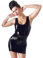Dámské latexové oblečení: Latexové minišaty, černé