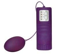 Vaginální i anální vibrační vajíčka: Velvet vibrační vajíčko (fialové)
