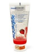 Lubrikační gely s příchutí, na orální sex: Gel AquaGlide (jahody)
