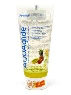 Lubrikační gely s příchutí, na orální sex: Gel AquaGlide (exotické ovoce)