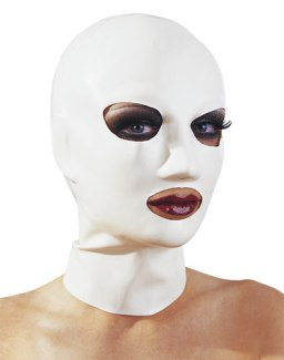 Latexová maska (bílá)