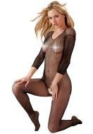 Síťované erotické prádlo: Síťovaný catsuit (černý)