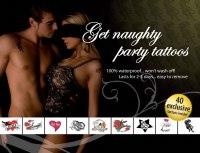 Dočasné erotické tetování: Erotické tetování - Get Naughty Party