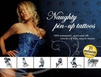 Dočasné erotické tetování: Erotické tetování - Naughty Pin-Up