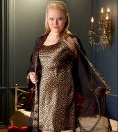 Noční prádlo, košilky a negližé: Leopardí negližé s kimonem