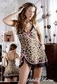 Leopardí šaty s krajkou